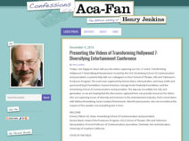 Confessions of an Aca/Fan:                   The Official Weblog of Henry Jenkins