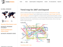 Trends in the Living Networks: Trend map for 2007 and beyond