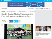 Study: Social Media Transforming Our Influences on What to Buy - Mashable