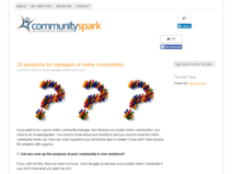 20 questions for managers of online communities | Online Communities | Build an Online Community