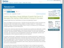 Gartner Says Many Social Software Projects Fail Due to IT Managers Not Having a Well-Defined Purpose to Succeed