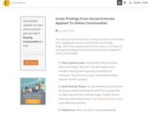 Great Findings From Social Sciences Applied To Online Communities - FeverBee