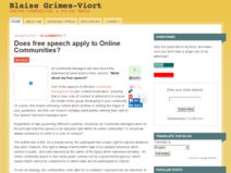 Does free speech apply to Online Communities?
