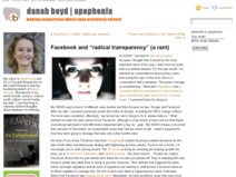 "Facebook and ""radical transparency"" (a rant)"