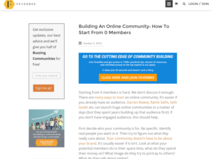 Building An Online Community: How To Start From 0 Members - FeverBee - The Online Community Guide
