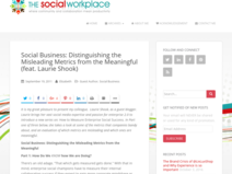 Social Business: Distinguishing the Misleading Metrics from the Meaningful (feat. Laurie Shook)