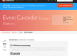 Event calendar design pattern