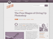The Four Stages of Giving Up Photoshop - Cognition: The blog of web design & development firm Happy Cog