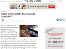 How Facebook Makes Us Unhappy : The New Yorker
