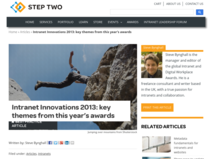 Intranet Innovations 2013: key themes from this year's awards - Step Two Designs