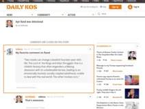 Daily Kos :: Comments: Ayn Rand was delusional