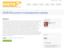 From population to organization thinking - Insite