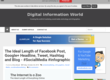 Digital Information World: The Ideal Length of Facebook Post, Google+ Headline, Tweet, Hashtag and Blog - #SocialMedia #infographic