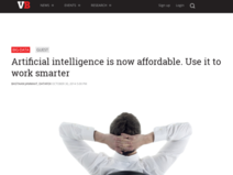 Artificial intelligence is now affordable. Use it to work smarter | VentureBeat | Big Data | by Bastiaan Janmaat, DataFox
