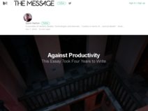 Against Productivity: The Message