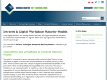 Intranet & Digital Workplace Maturity ModelsIntranet & Digital Workplace Maturity Models - Intranet Matters | Schillerwein Net Consulting