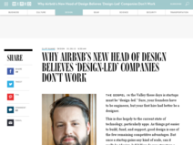 Why Airbnb's New Head of Design Believes 'Design-Led' Companies Don't Work | WIRED
