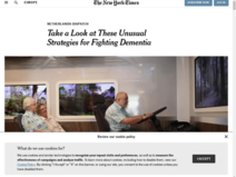 Onorthodoxe dementie behandeling Sensire gevat in reportage The New York Times